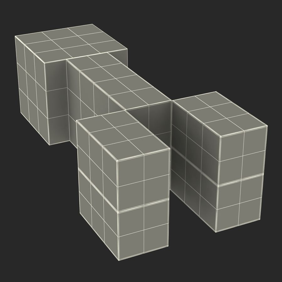 Minecraft Creeper royalty-free 3d model - Preview no. 19