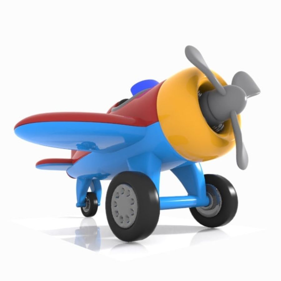 Toon Aircraft royalty-free 3d model - Preview no. 4