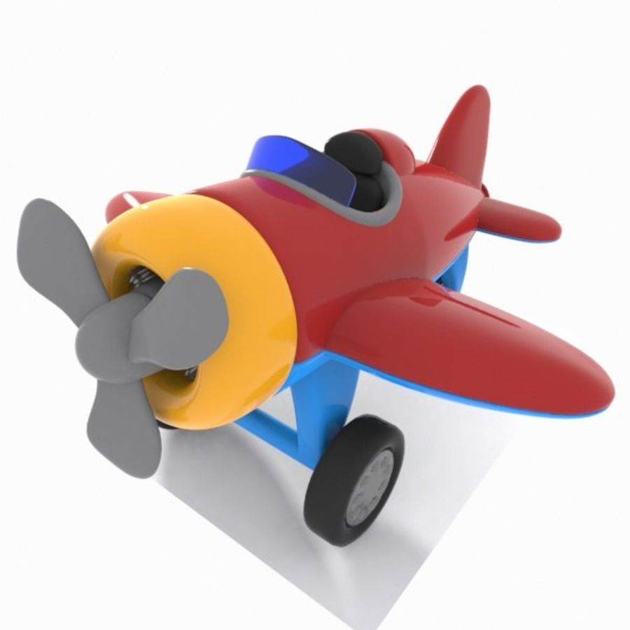 Toon Aircraft royalty-free 3d model - Preview no. 13
