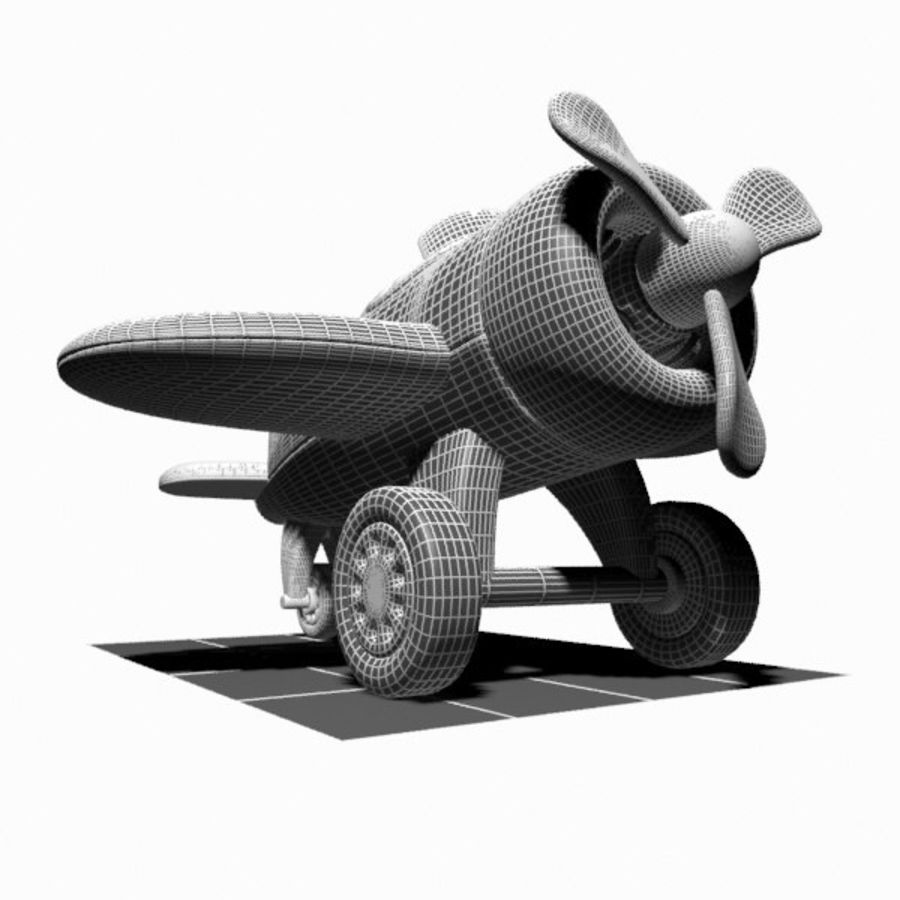 Toon Aircraft royalty-free 3d model - Preview no. 17