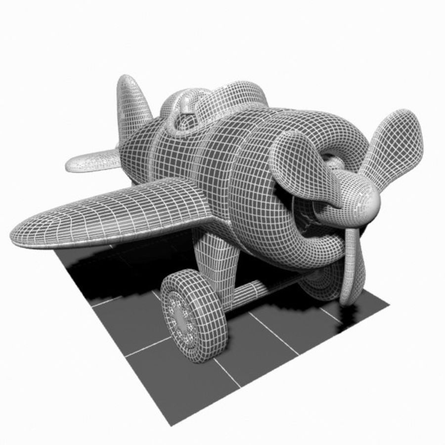 Toon Aircraft royalty-free 3d model - Preview no. 16