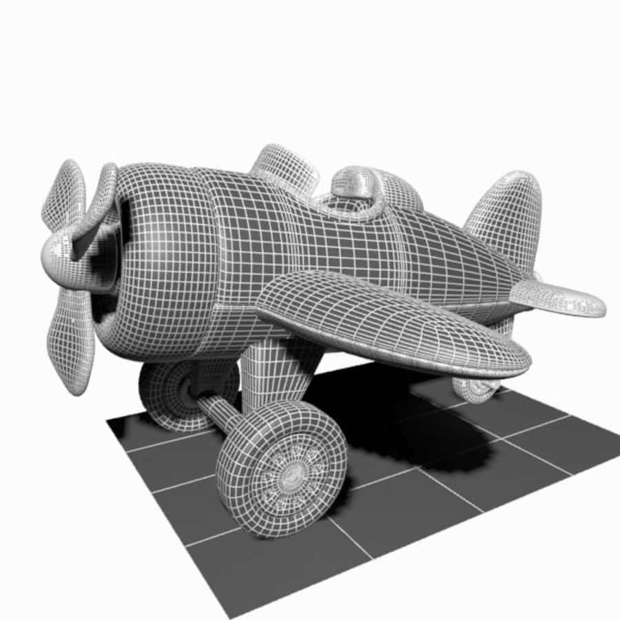 Toon Aircraft royalty-free 3d model - Preview no. 18