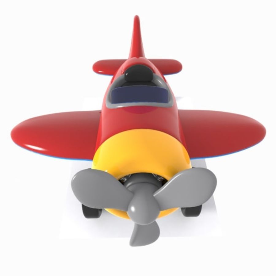 Toon Aircraft royalty-free 3d model - Preview no. 8