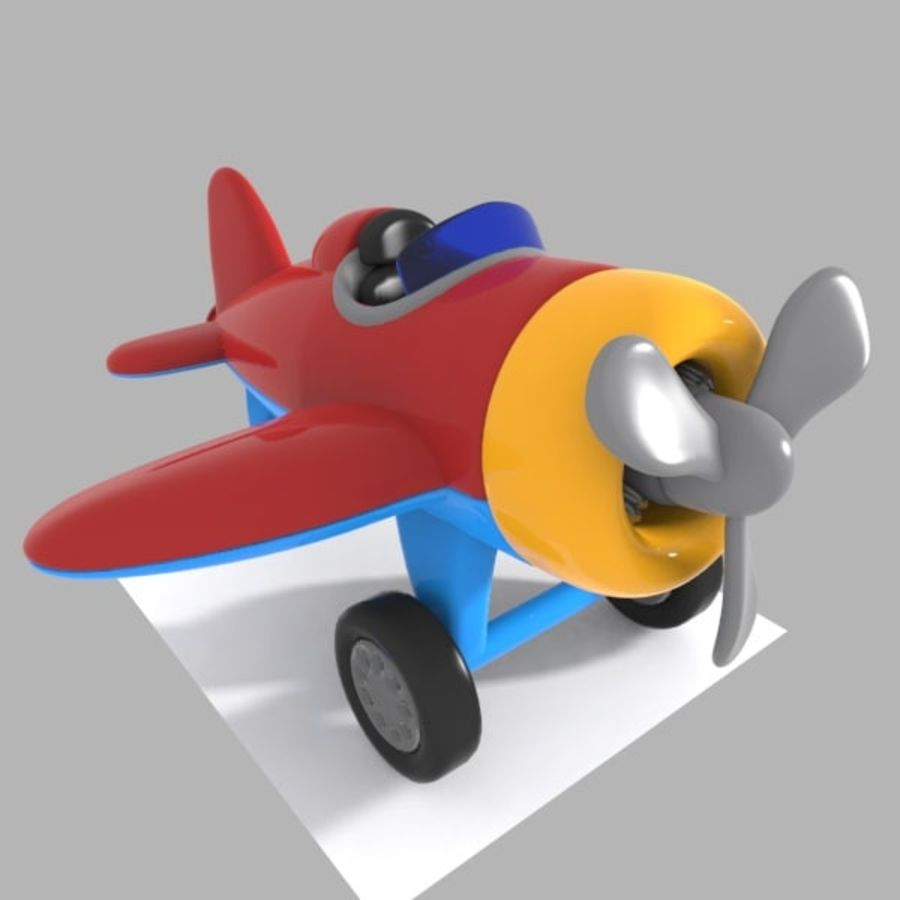 Toon Aircraft royalty-free 3d model - Preview no. 2