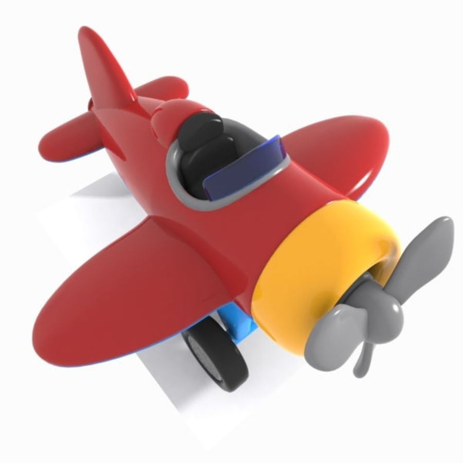 Toon Aircraft royalty-free 3d model - Preview no. 3