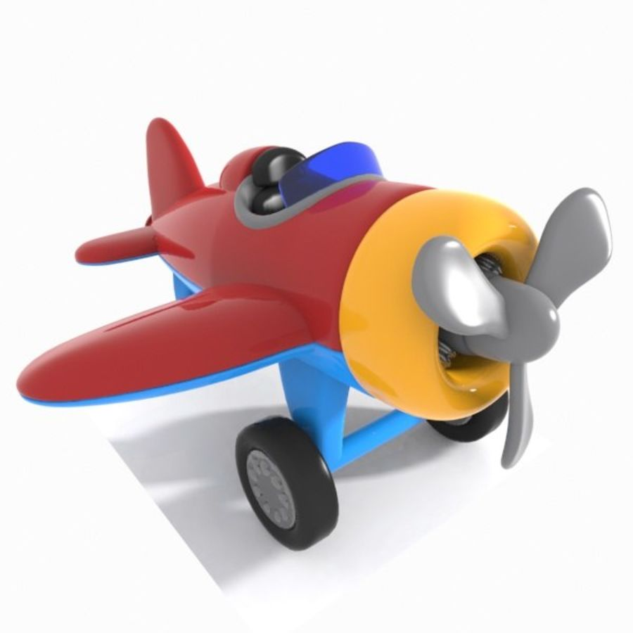 Toon Aircraft royalty-free 3d model - Preview no. 1