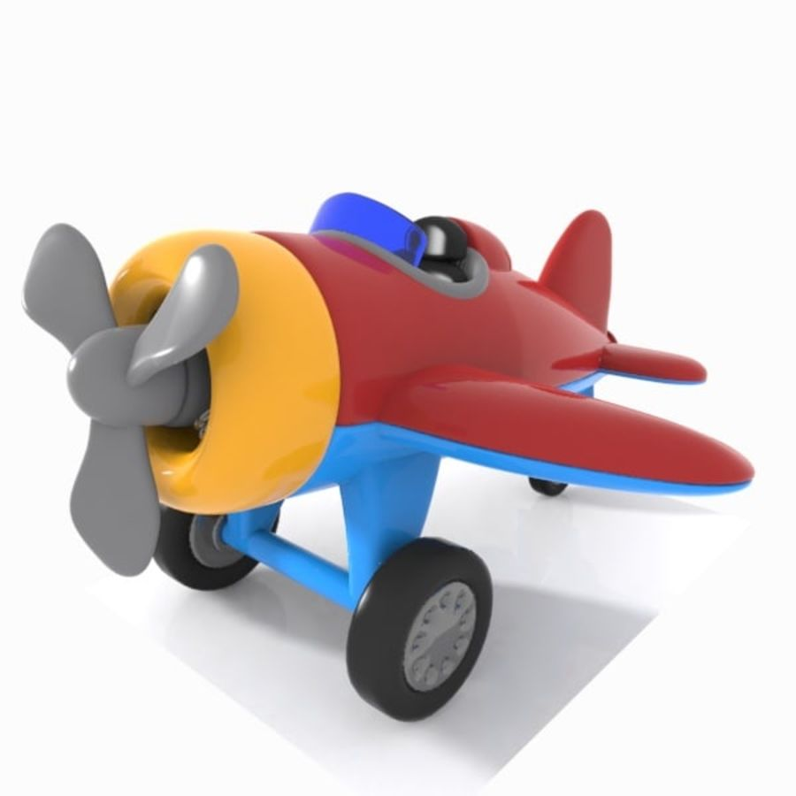 Toon Aircraft royalty-free 3d model - Preview no. 5