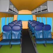 Cartoon Coach Cabin 3d model