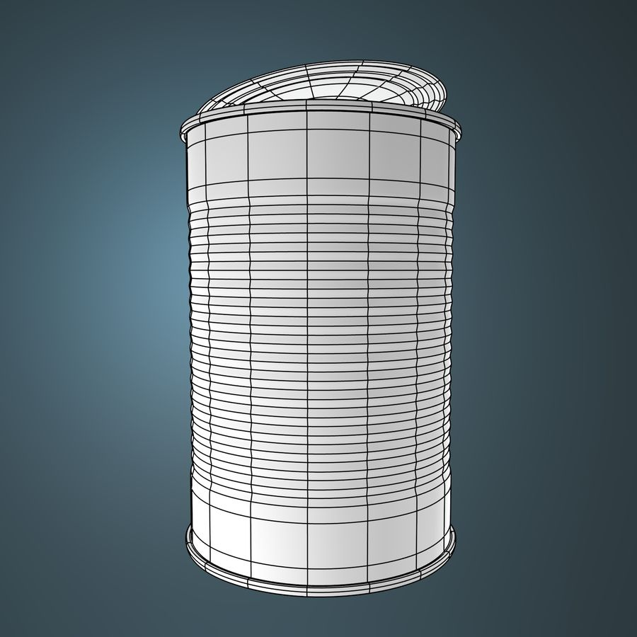 empty food can royalty-free 3d model - Preview no. 3
