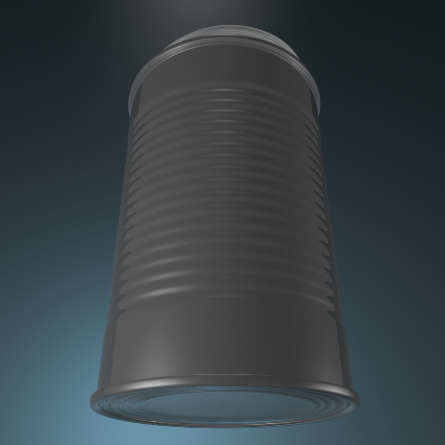 empty food can royalty-free 3d model - Preview no. 1