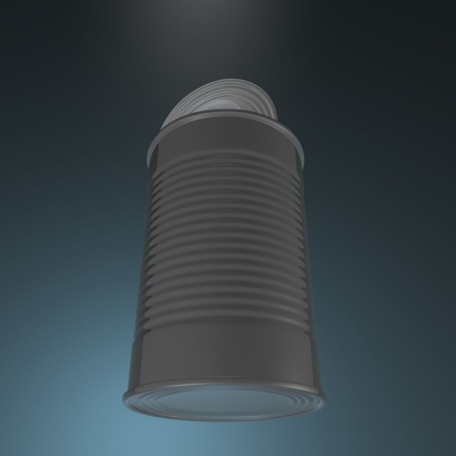 open empty food can #3 royalty-free 3d model - Preview no. 1