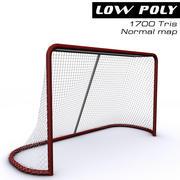 Gol de hockey modelo 3d