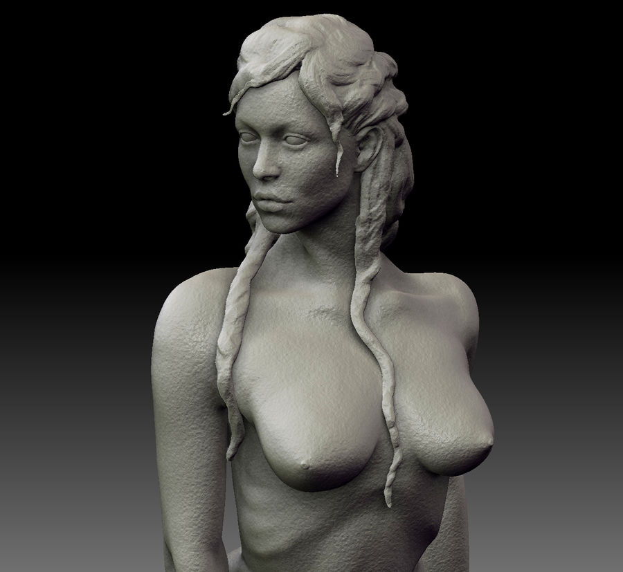 Sexy female statue royalty-free 3d model - Preview no. 2