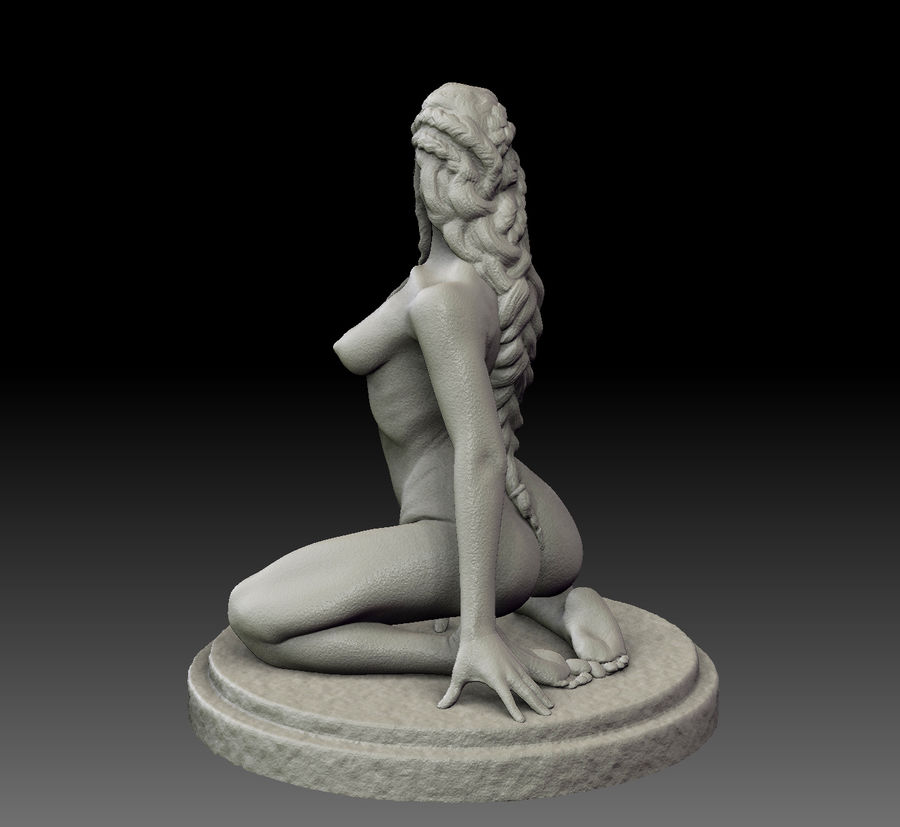 Sexy female statue royalty-free 3d model - Preview no. 5