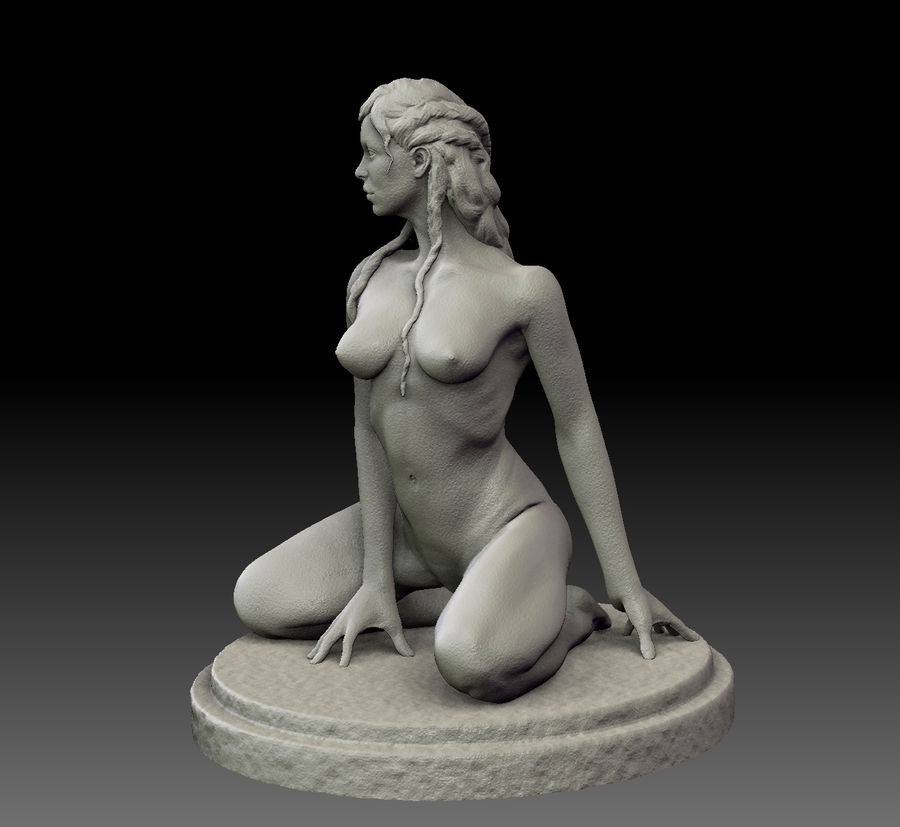 Sexy female statue royalty-free 3d model - Preview no. 6
