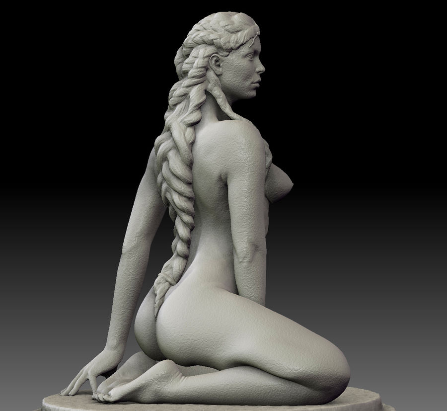 Sexy female statue royalty-free 3d model - Preview no. 1