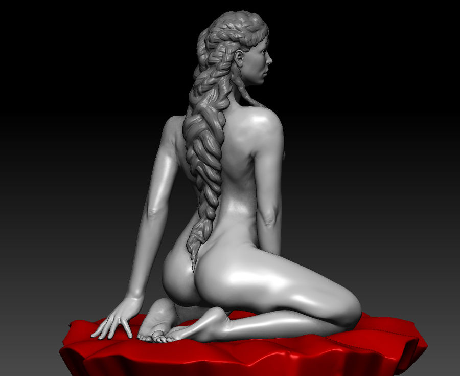 Sexy geposeerde vrouw (2) royalty-free 3d model - Preview no. 11