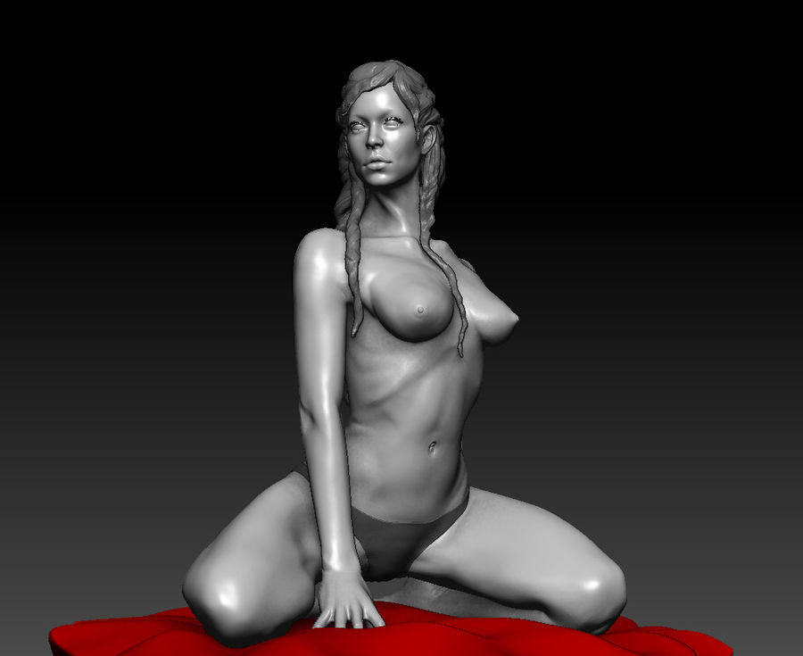 Sexy geposeerde vrouw (2) royalty-free 3d model - Preview no. 2