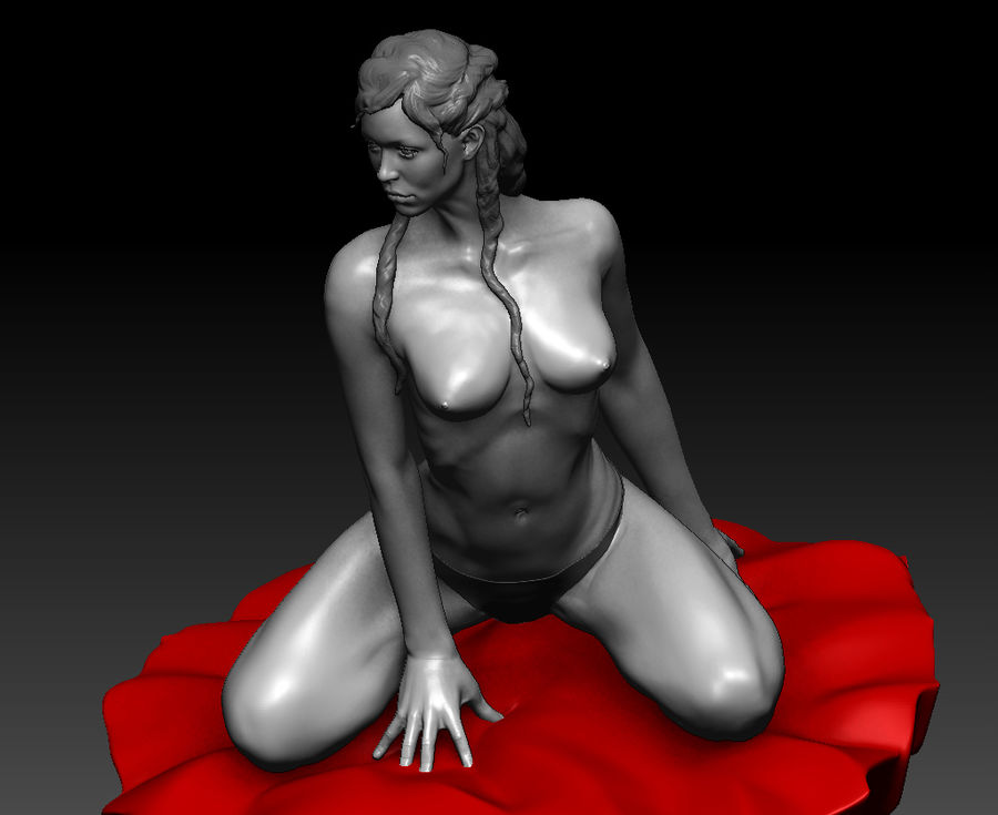 Sexy geposeerde vrouw (2) royalty-free 3d model - Preview no. 7