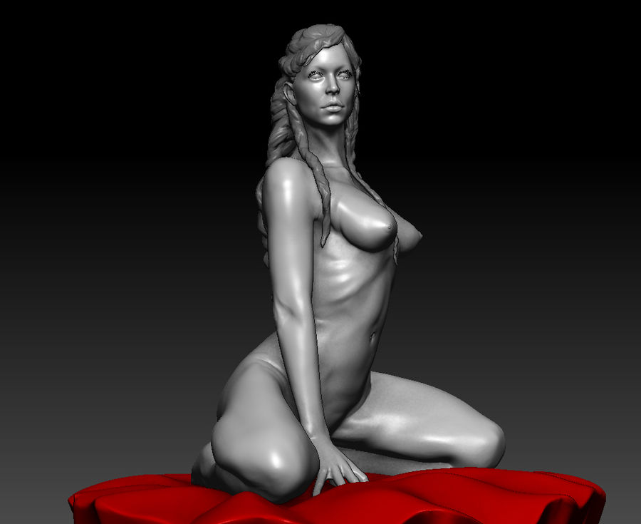 Sexy geposeerde vrouw (2) royalty-free 3d model - Preview no. 10
