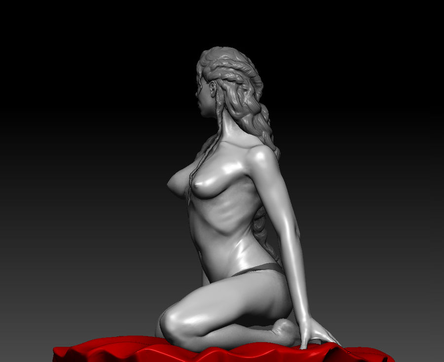 Sexy geposeerde vrouw (2) royalty-free 3d model - Preview no. 4