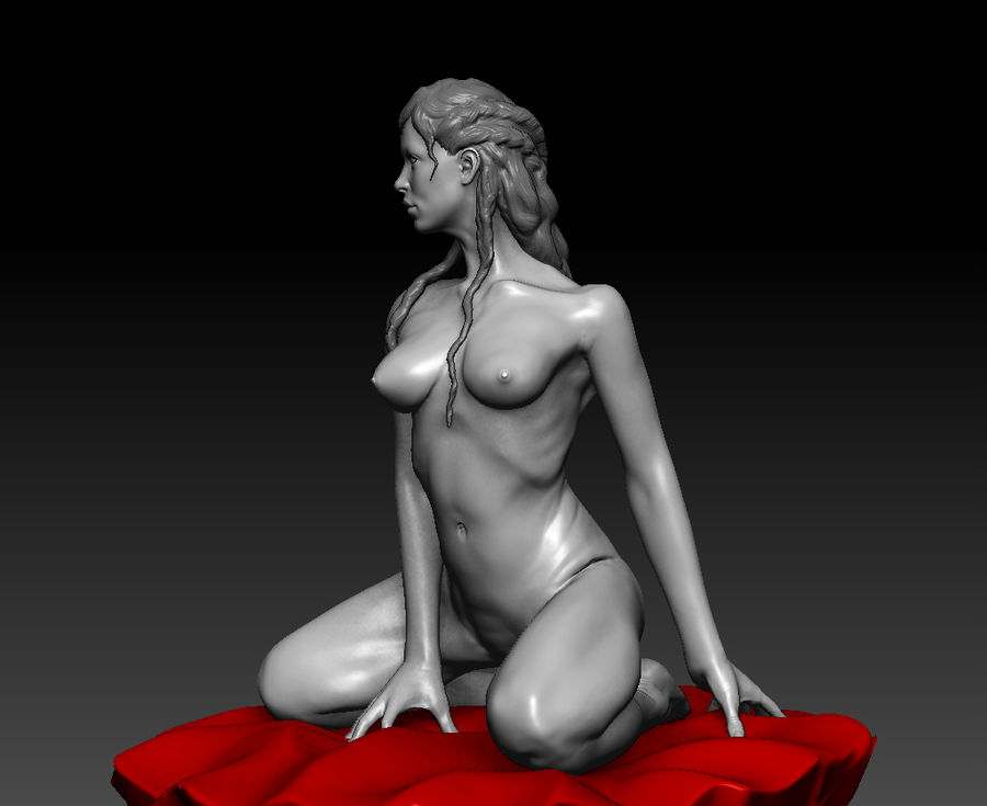Sexy geposeerde vrouw (2) royalty-free 3d model - Preview no. 1