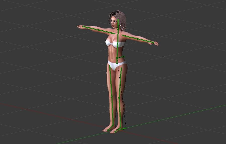 Woman Rigged royalty-free 3d model - Preview no. 9