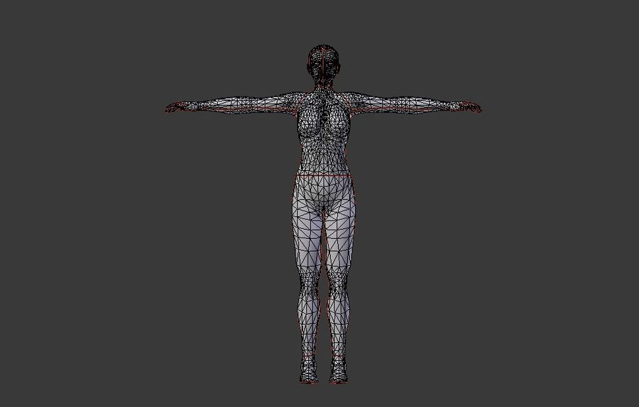 Woman Rigged royalty-free 3d model - Preview no. 14
