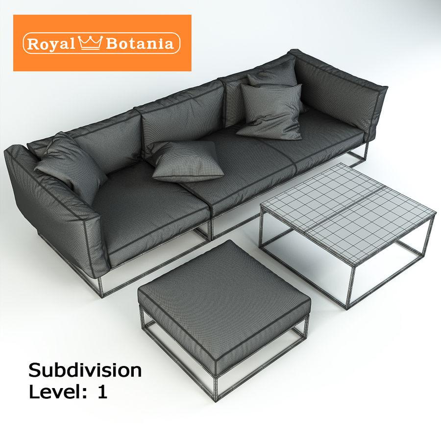 Sofa royalty-free 3d model - Preview no. 10