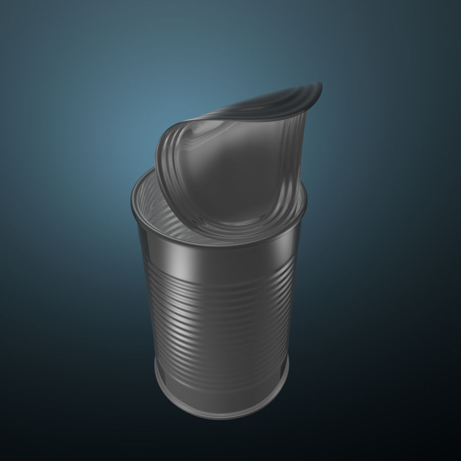 open empty food can #1 royalty-free 3d model - Preview no. 2