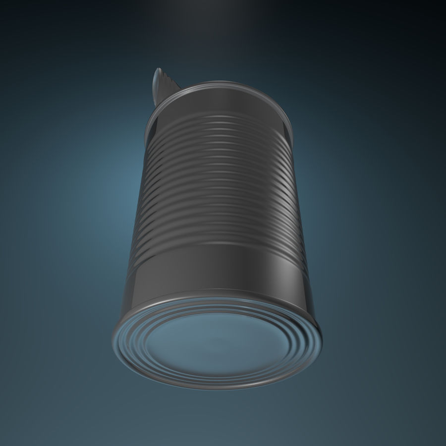 open empty food can #1 royalty-free 3d model - Preview no. 3