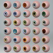 Набор 30 глазных яблок 3d model