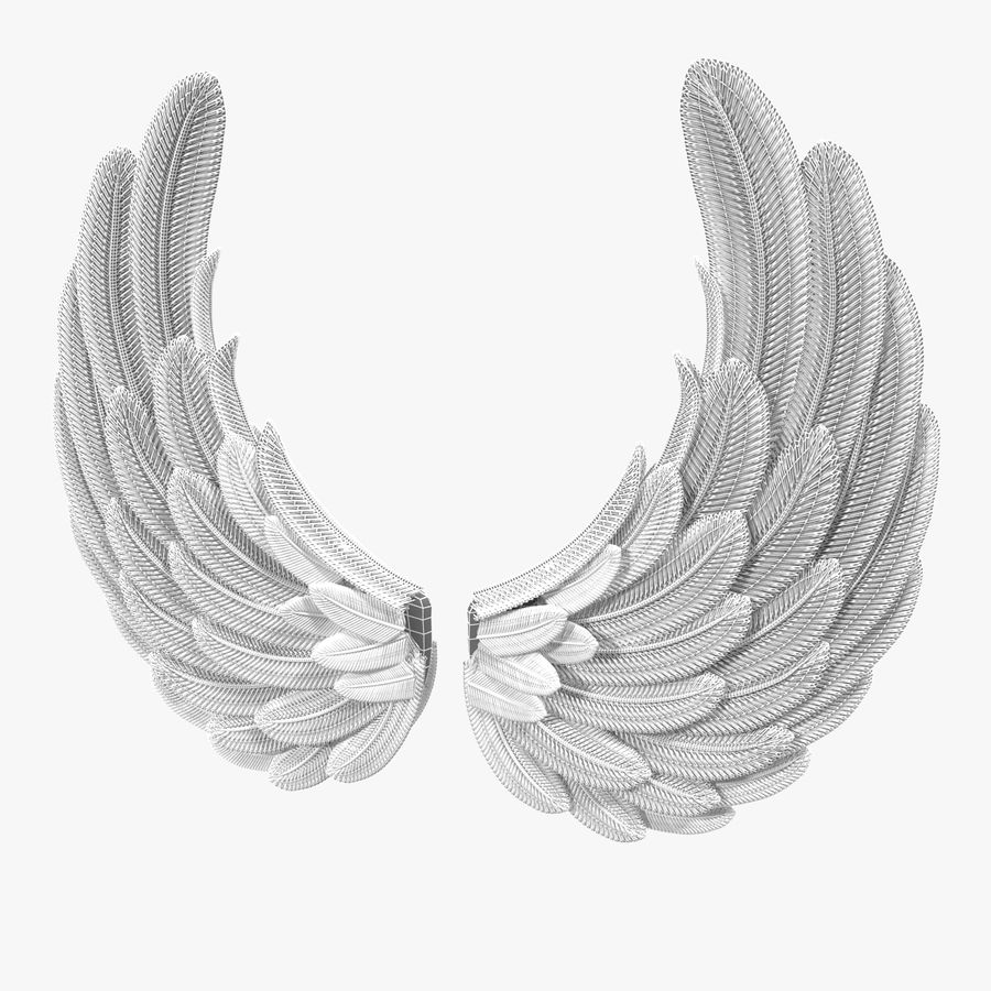 Wings royalty-free 3d model - Preview no. 8
