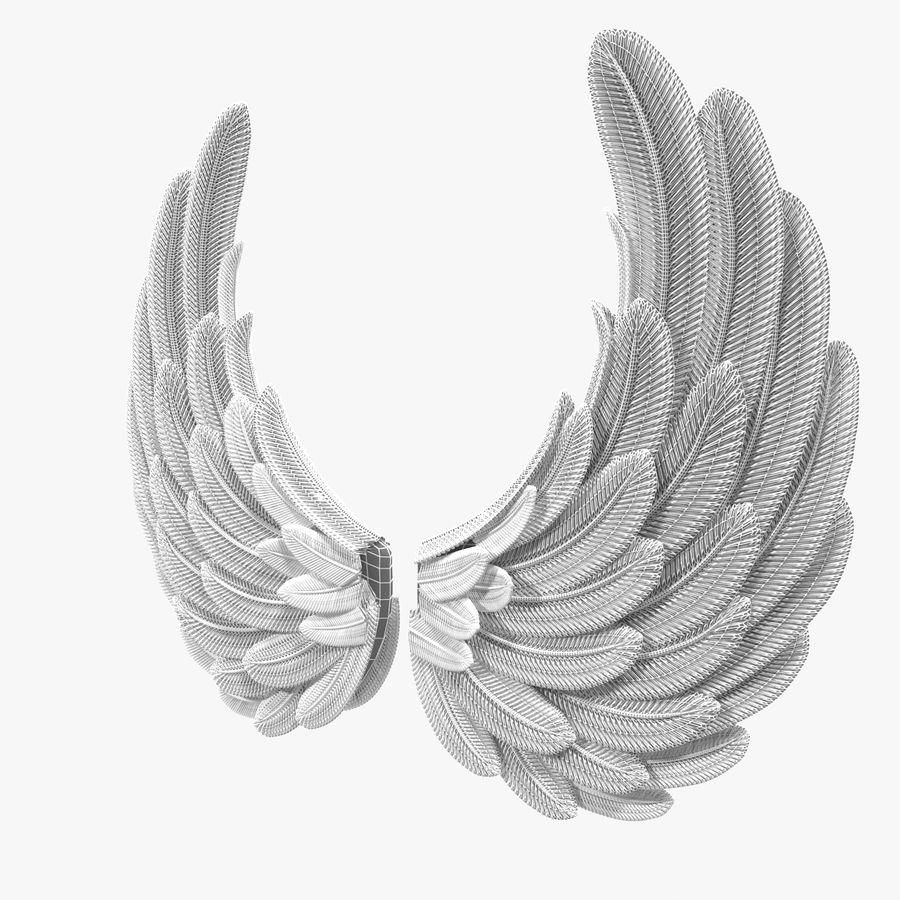 Wings royalty-free 3d model - Preview no. 14