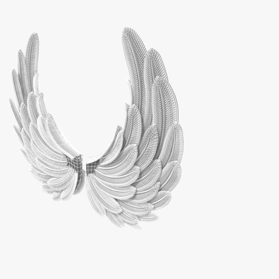 Wings royalty-free 3d model - Preview no. 10