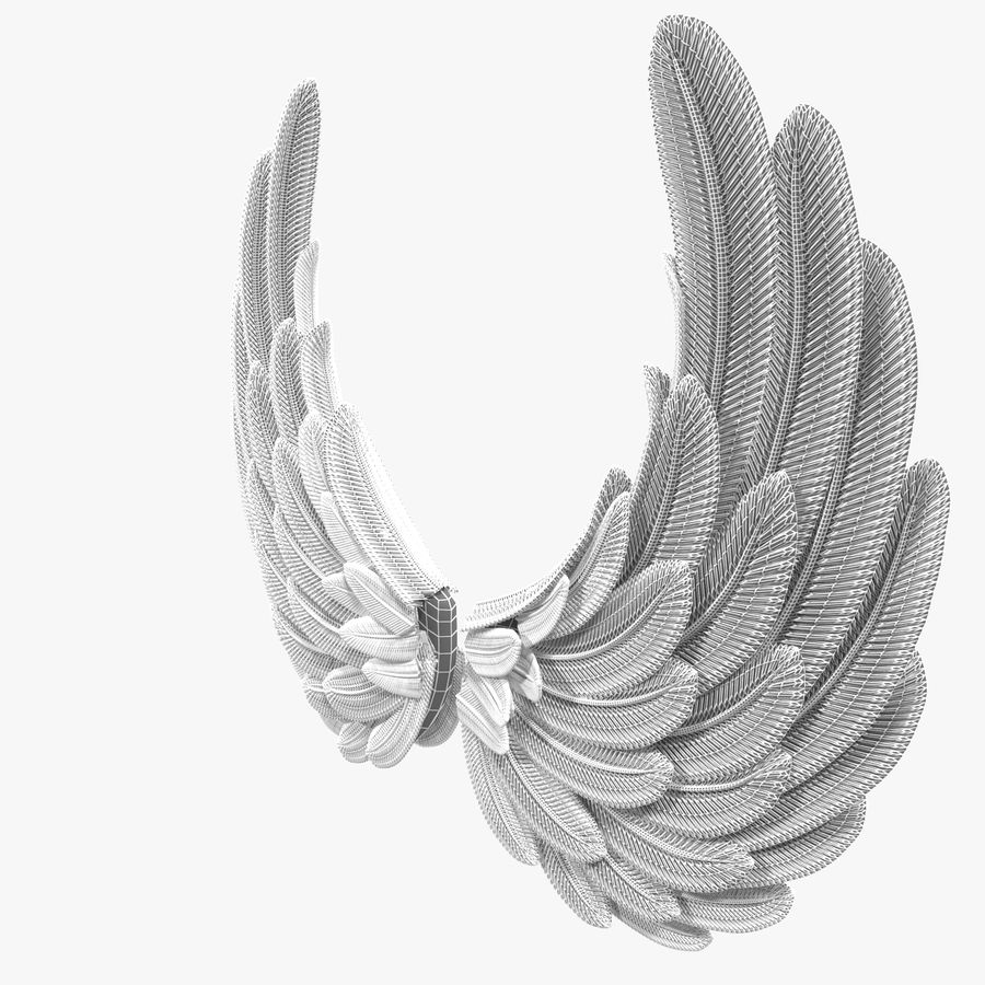 Wings royalty-free 3d model - Preview no. 9