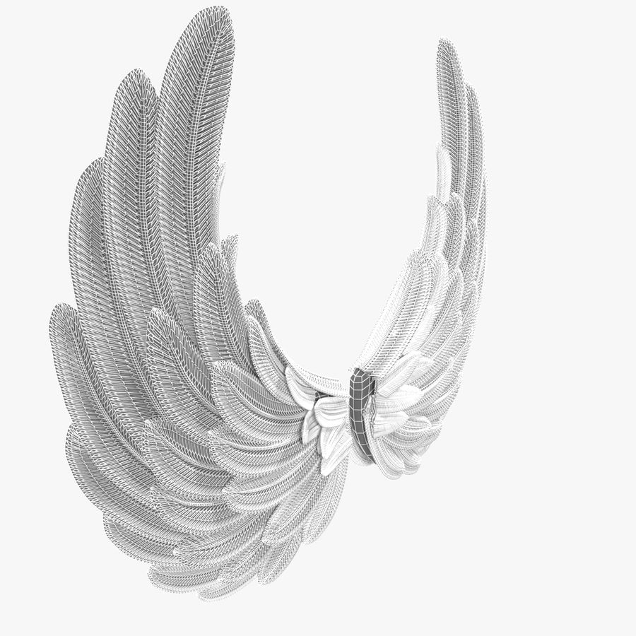 Wings royalty-free 3d model - Preview no. 11