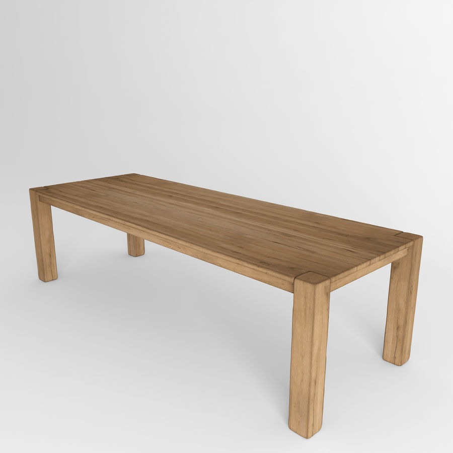 Reclaimed Russian Oak Parsons Rectangular Dining Table Natural 3d Model 16 Fbx Max Free3d