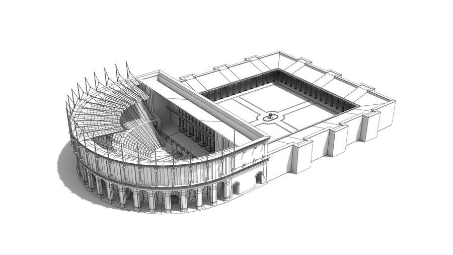 Théâtre romain antique royalty-free 3d model - Preview no. 2