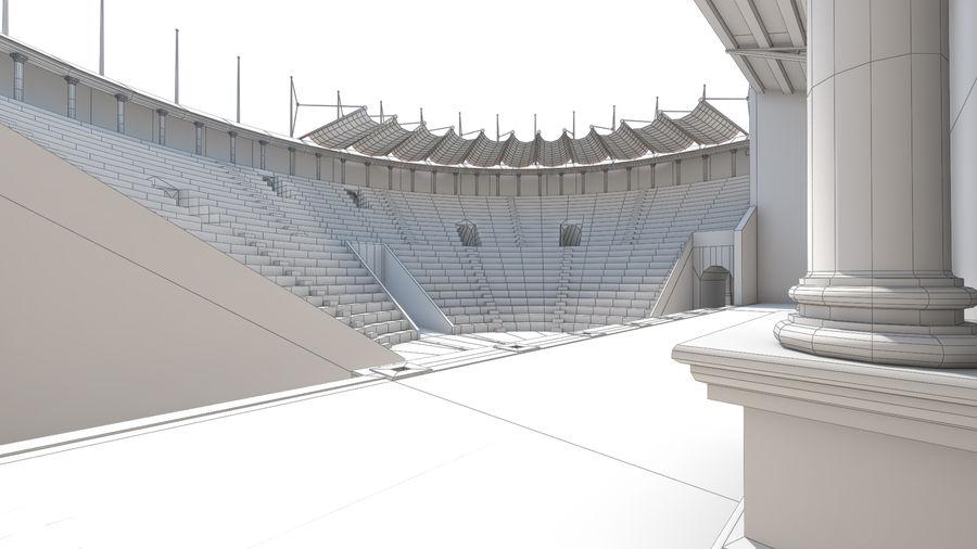 Théâtre romain antique royalty-free 3d model - Preview no. 6
