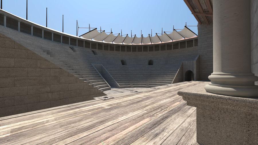 Théâtre romain antique royalty-free 3d model - Preview no. 5