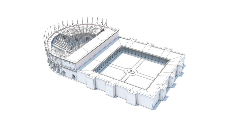 Théâtre romain antique royalty-free 3d model - Preview no. 4