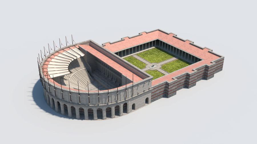 Théâtre romain antique royalty-free 3d model - Preview no. 1