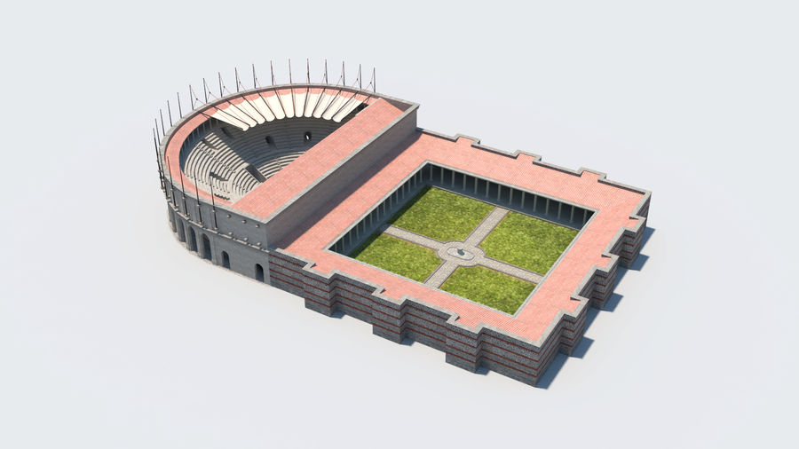 Théâtre romain antique royalty-free 3d model - Preview no. 3