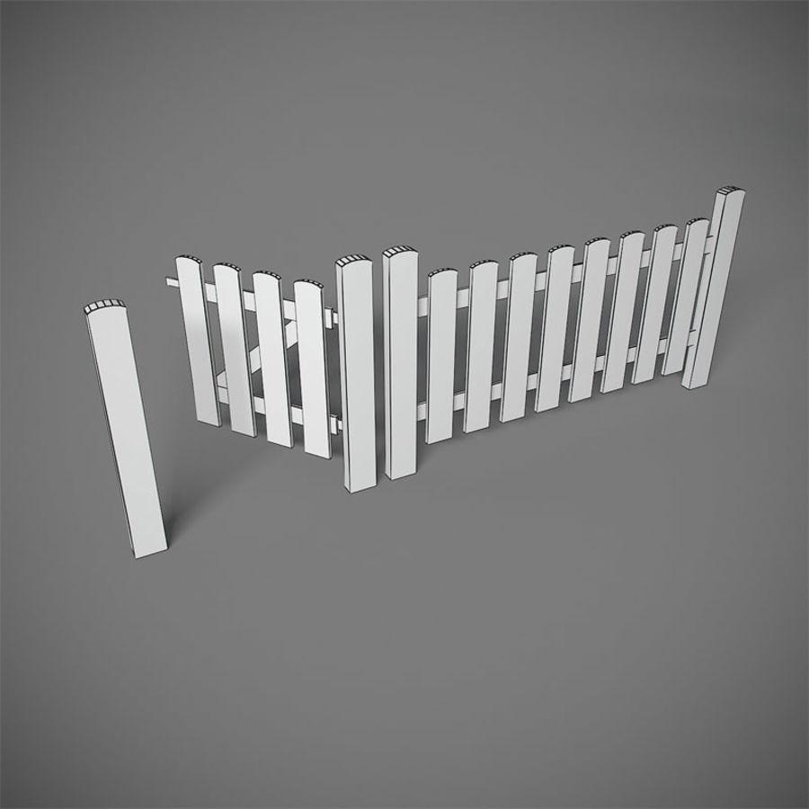 Cerca com portão royalty-free 3d model - Preview no. 2