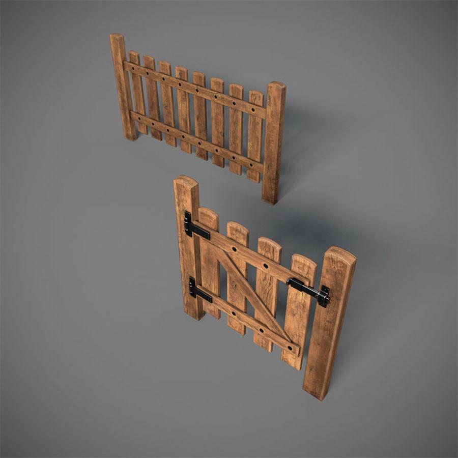 Cerca com portão royalty-free 3d model - Preview no. 3
