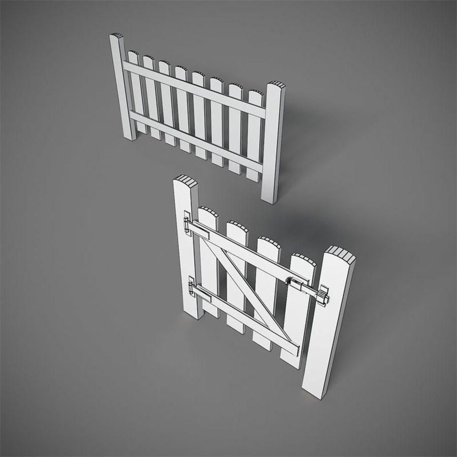 Cerca com portão royalty-free 3d model - Preview no. 4