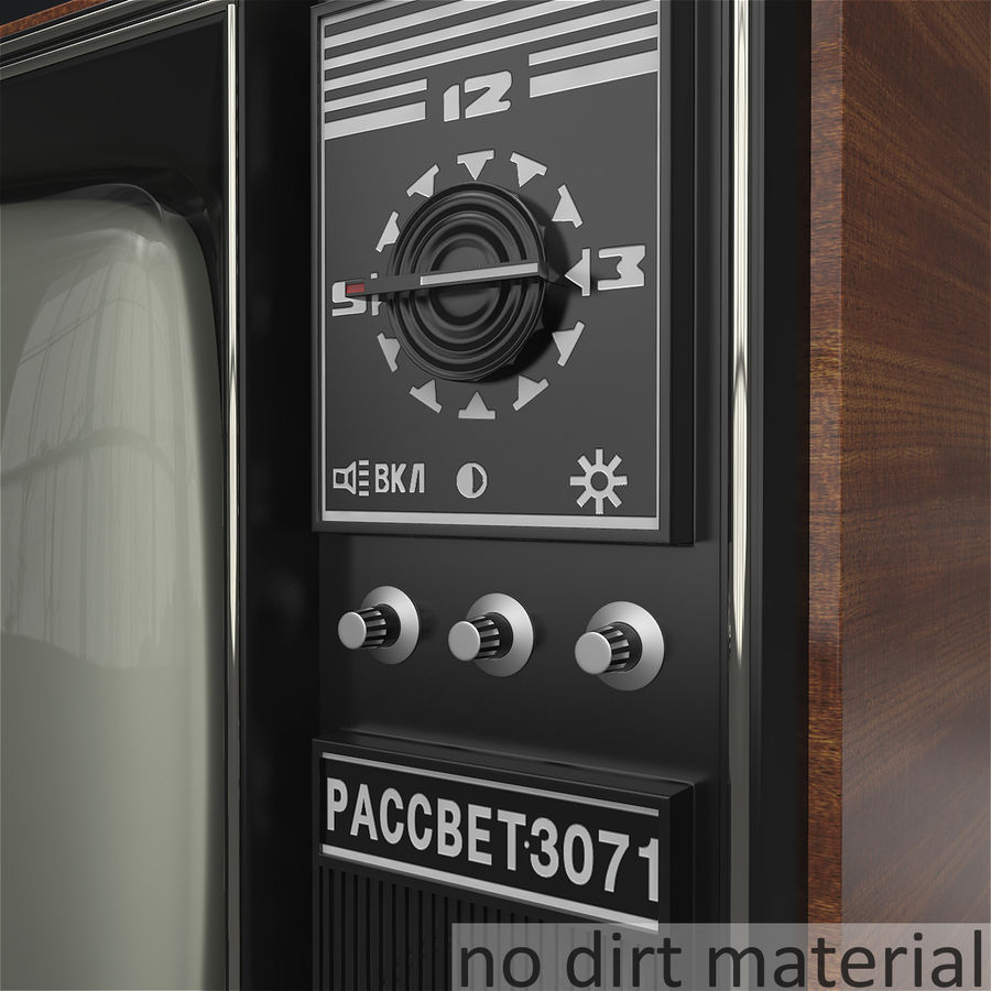Old Soviet TV royalty-free 3d model - Preview no. 8
