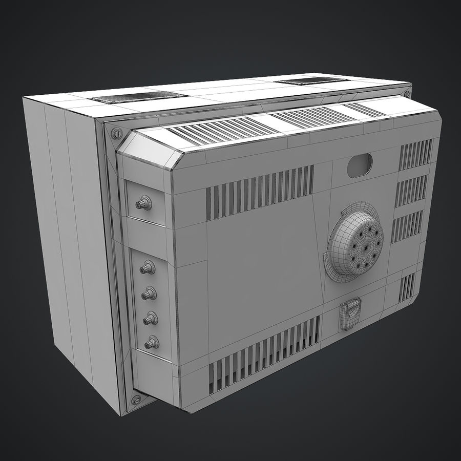 Old Soviet TV royalty-free 3d model - Preview no. 14