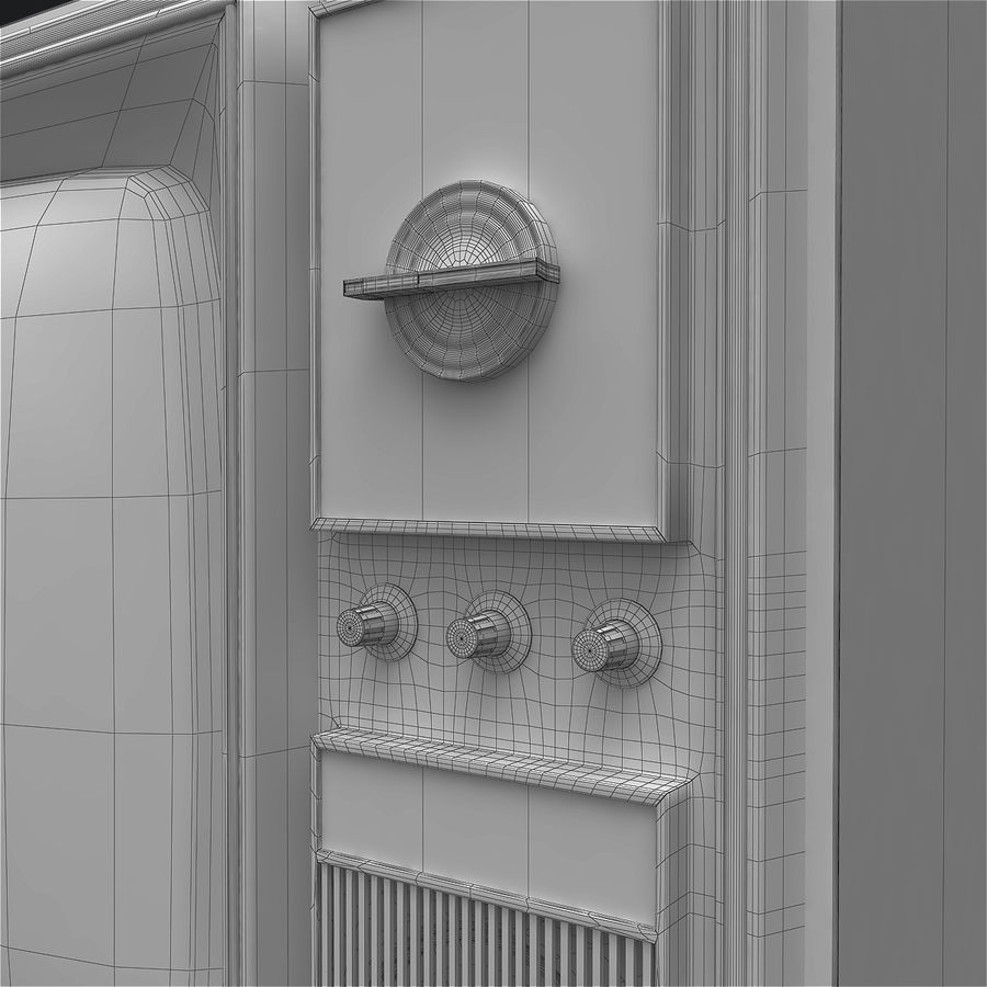 Old Soviet TV royalty-free 3d model - Preview no. 12